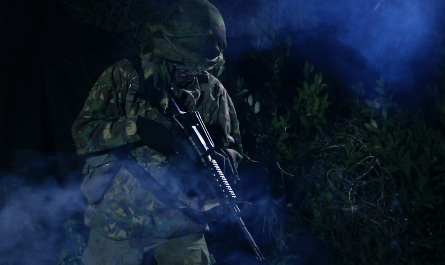 Dark Soldier aiming