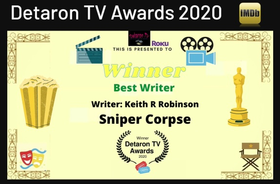 Detaron Award BEST WRITER 2020 WINNER
